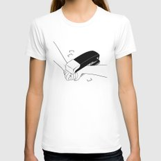 Never Let Me Go White Womens Fitted Tee MEDIUM