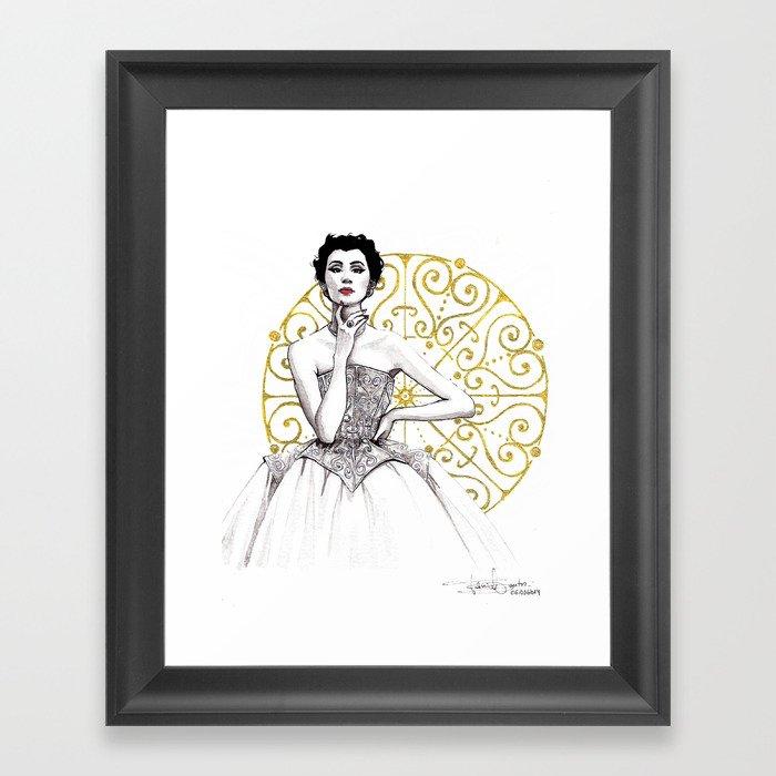 606995ecffcb Vintage Balenciaga Framed Art Print by taniasantos