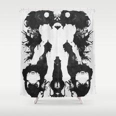 Samus Aran Metroid Geek Psychological Diagnosis Ink Blot  Shower Curtain