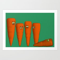 Is that a...zombie carrot!?!! Art Print