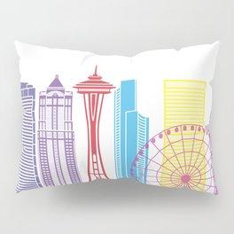 Seattle V2 skyline pop Pillow Sham