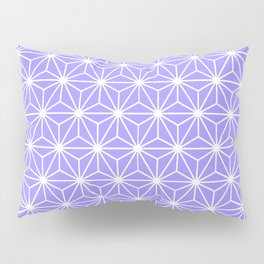 Cold Lilac Geometric Flowers and Florals Isosceles Triangle Pillow Sham