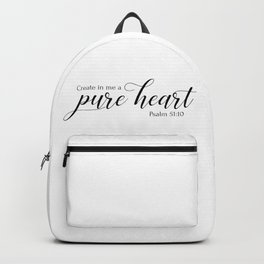 Psalm 51:10 Create in me a pure heart,Christian,Bible verse Backpack
