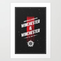 winchester Art Prints featuring Winchester & Winchester by clockwork robots