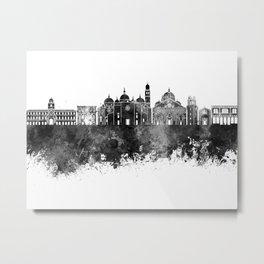 Padua skyline in black watercolor Metal Print