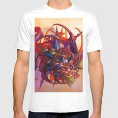 Sci-fi insect MEDIUM White Mens Fitted Tee