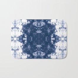 Shibori Tie Dye 2 Indigo Blue Bath Mat