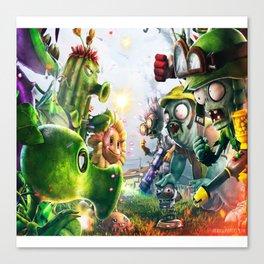 Zombie vs plants Canvas Print