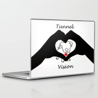 pit bull Laptop & iPad Skins featuring Tunnel Vison (love is a pit bull No.3) by Shay by design