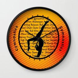 Red Dot circle symbol Wall Clock