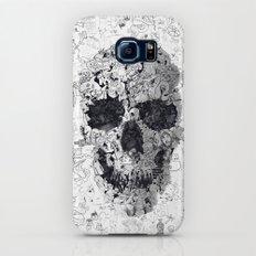 Doodle Skull BW Slim Case Galaxy S6