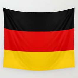 German flag - High Quality version both in scale and color Wall Tapestry
