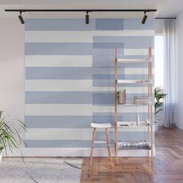 Big Stripes in Light Blue Wall Mural