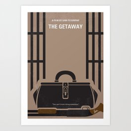 No952 My The Getaway minimal movie poster Art Print