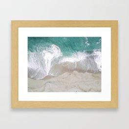 beach ariel Framed Art Print