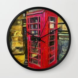 Van Gogh's Phonebox Wall Clock