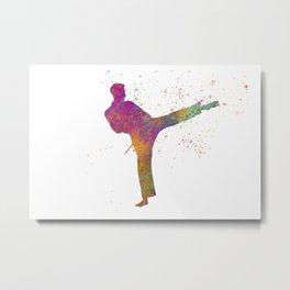 Taewondo-karate-muay thai in watercolor 03 Metal Print
