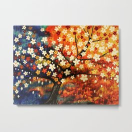 Flower Gold Dust Metal Print