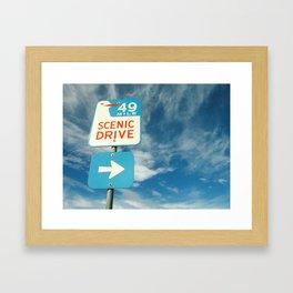 49 mile scenic drive Framed Art Print