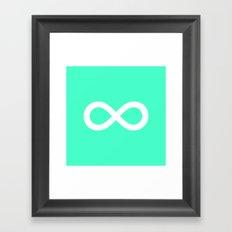 Mint Infinity Framed Art Print