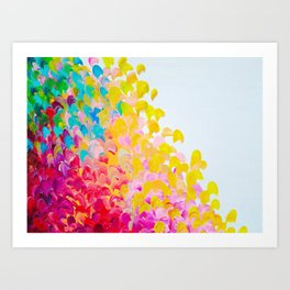 CREATION IN COLOR - Vibrant Bright Bold Colorful Abstract Painting Cheerful Fun Ocean Autumn Waves Kunstdrucke