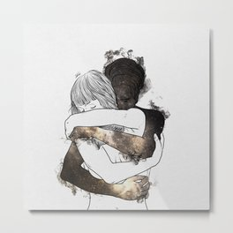 I would keep you forever (GOLD). Metal Print