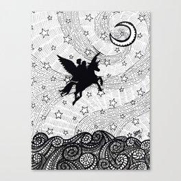 Flight of the alicorn Canvas Print