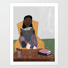 Stay home and read Art Print