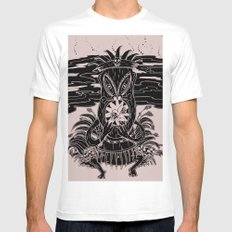 Tiki lunch White MEDIUM Mens Fitted Tee
