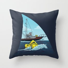 Jaws: The Orca Throw Pillow