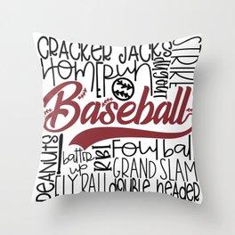 Baseball Typo Throw Pillow