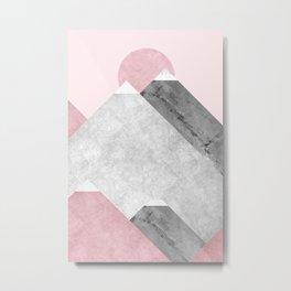 Modern Mountain No1-P2 Metal Print