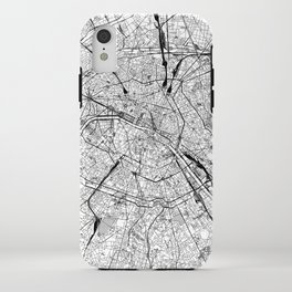 Paris White Map iPhone Case