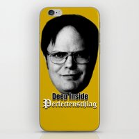 dwight schrute iPhone & iPod Skins featuring Dwight - Perfectenschlag by Thomas Rolfe