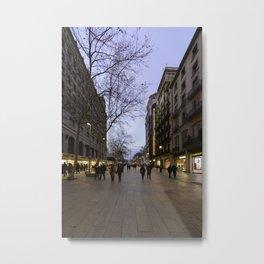 Barcelona Streets Metal Print