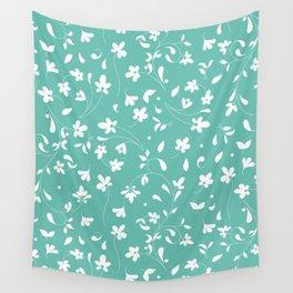 Scandinavian Floral Pattern Wall Tapestry