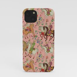 Horse Riding & Oriental Tribal Pattern iPhone Case