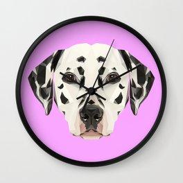 Dalmatian // Lilac Wall Clock