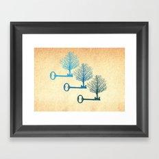 Tree Keys Framed Art Print