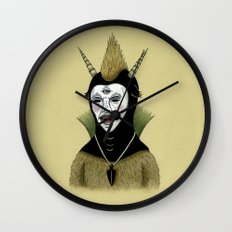 Creature with Black Amulet  Wall Clock