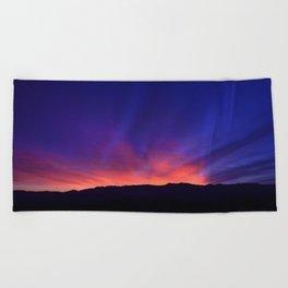 SW Mountain Sunrise - 6 Beach Towel