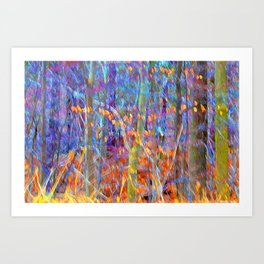 Wind in the Trees Art Print