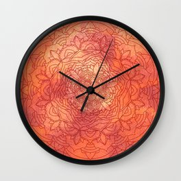 Autumn Mandala Pattern Wall Clock