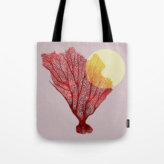 coral sunshine Tote Bag
