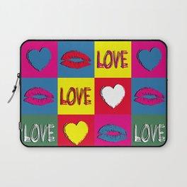 Pop art love Laptop Sleeve