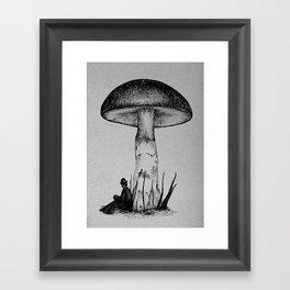 Under the Toadstool Framed Art Print