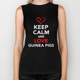 Keep Calm And Love Guinea Pigs Biker Tank