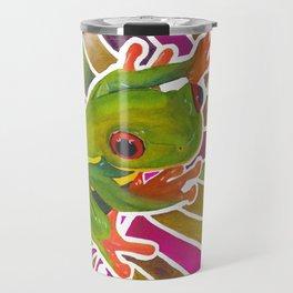 Frog On A Leaf Travel Mug