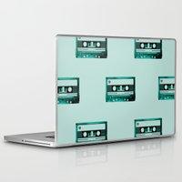 cassette Laptop & iPad Skins featuring cassette by Ginger Pigg Art & Design