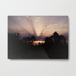 Sunset on Gaia Metal Print